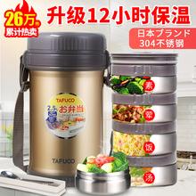 日本泰福高保温饭盒便当盒多层学生12小时超长保温桶上班1人便携图片