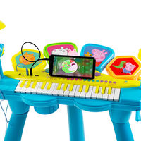 Pig Peggy Children's Keyboard Beginner Boys and Girls Drums Baby Piano 1-3-6 Years Old Musical Toys