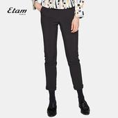 女8A012006895 艾格Etam2017冬季纯色修身 休闲长裤图片