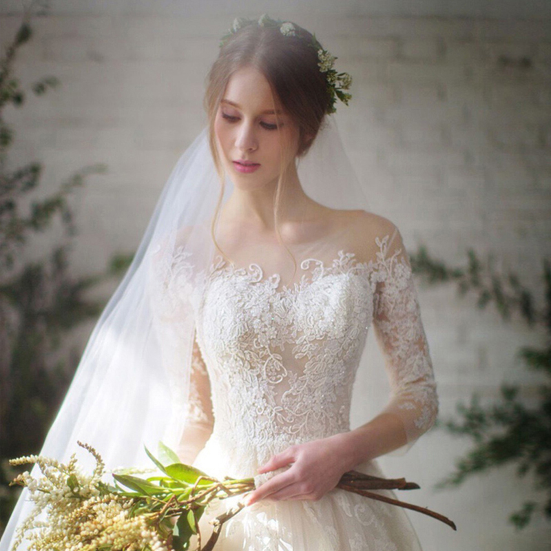 长袖新娘婚纱
