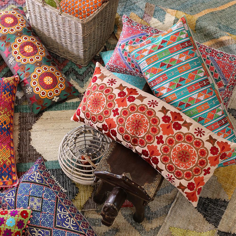 印度刺绣抱枕