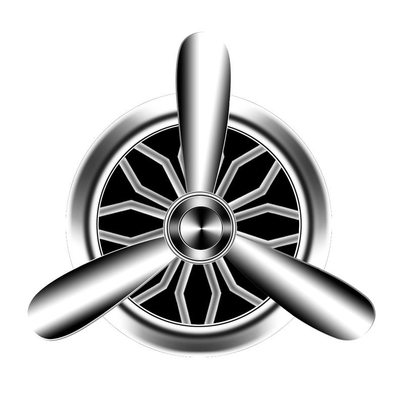 空军二号三号车载香水持久淡香汽车出风口香水一号装饰用风扇香薰