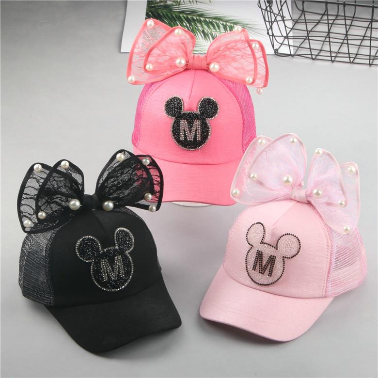 春季儿童帽子韩版女童鸭舌帽2-6岁宝宝户外时尚棒球帽公主帽潮