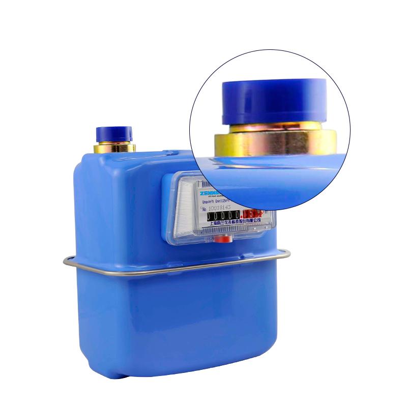中德合资真兰铝/钢壳家用天然气表 燃气表 煤气表接头G1.6/2.5/4S
