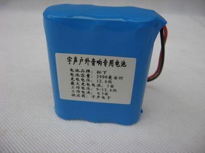 全新原装松下18650 12.6V2900MAH锂电池组 宇声主机电媒专用电池领取优惠券