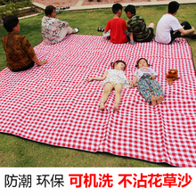 Outdoor Machine Washable Picnic Pad 300 Super Red and White Waterproof Beach Cloth ins Outdoor Carpet Portable Moistureproof Pad