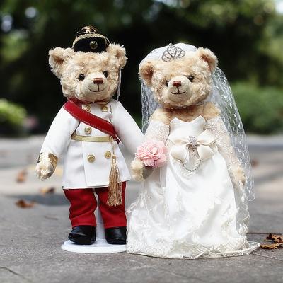 结婚压床娃娃一对新款高档情侣公仔婚礼泰迪熊新婚礼物婚庆熊玩偶