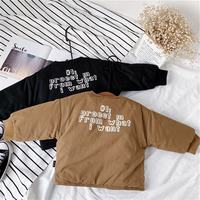 Xiaojie home 2018 winter new boy thick cotton coat girls cotton clothes Korean version of the round neck jacket