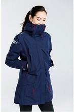 迪卡侬户外冲锋上衣女款中长款修身防水防风冬季保暖加厚TRIBORD