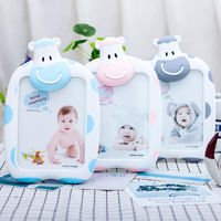 7 inch cartoon baby creative cow photo frame photo frame student photo frame simple wall set table decoration children picture frame