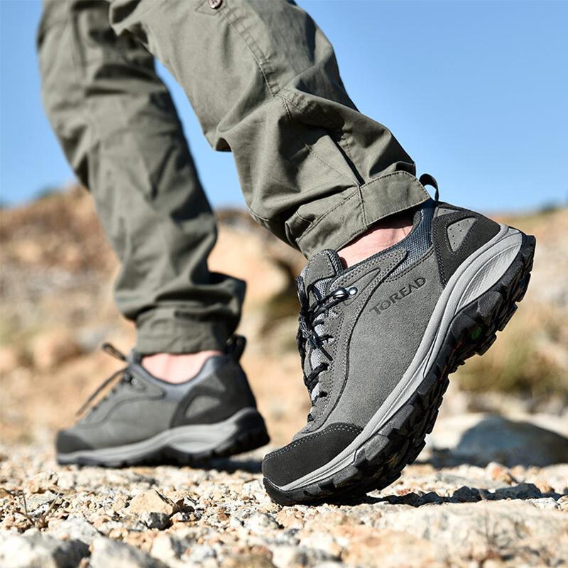 探路者登山鞋户外运动徒步男鞋低帮爬山鞋轻便山地防水防滑越野鞋