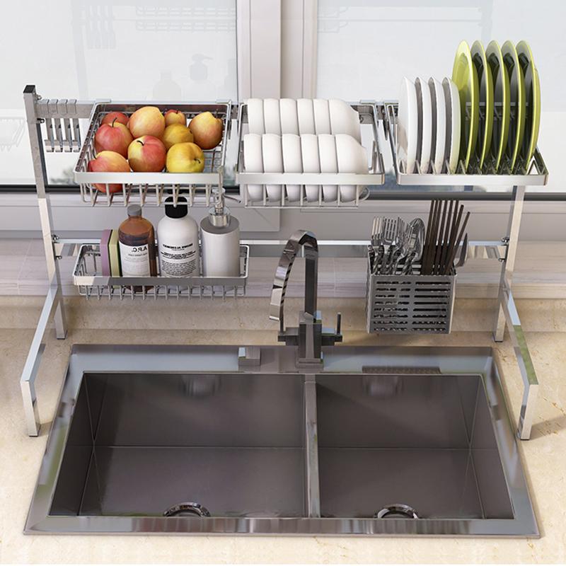 沥水架水槽放碗架厨房用具置物架 不锈钢收纳晾碗碟架用品沥水篮