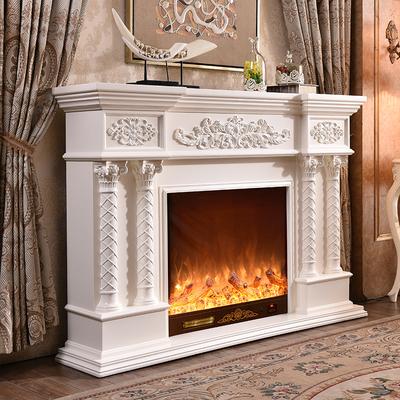 一達家具歐式壁爐裝飾柜電視柜仿真火遙控壁爐芯電子取暖器特價