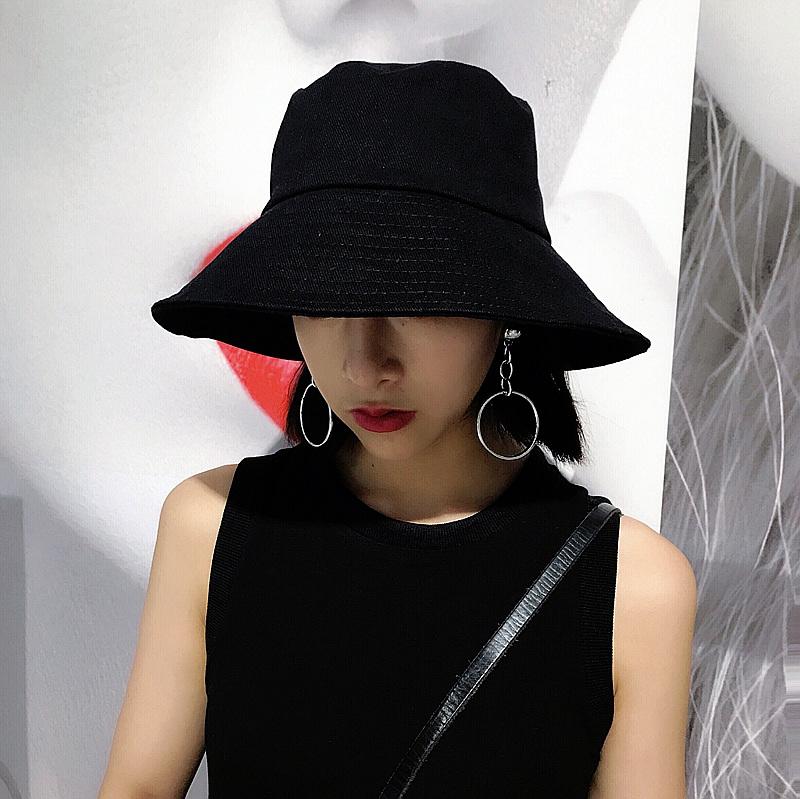 韩版黑色女帽