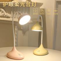 欧式客厅书房卧室床头灯喂奶小夜灯创意时尚布艺可调光陶瓷台灯