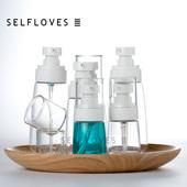旅行便携容器洗漱空瓶 ilbu便携精华乳液瓶按压分装 瓶子化妆品分装图片