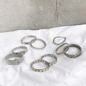 欧美港风不锈钢手链复古冷淡风网状表扣十字爱心链条手环手镯男女