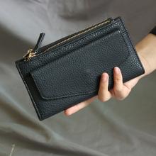 特!亏本清德国单经典款手包黑色PU 质感好手拿包黑色钱夹长钱包