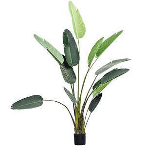 伊莎世家 北欧大型落地绿植仿真植物摆件 家居旅人蕉琴叶榕小盆栽