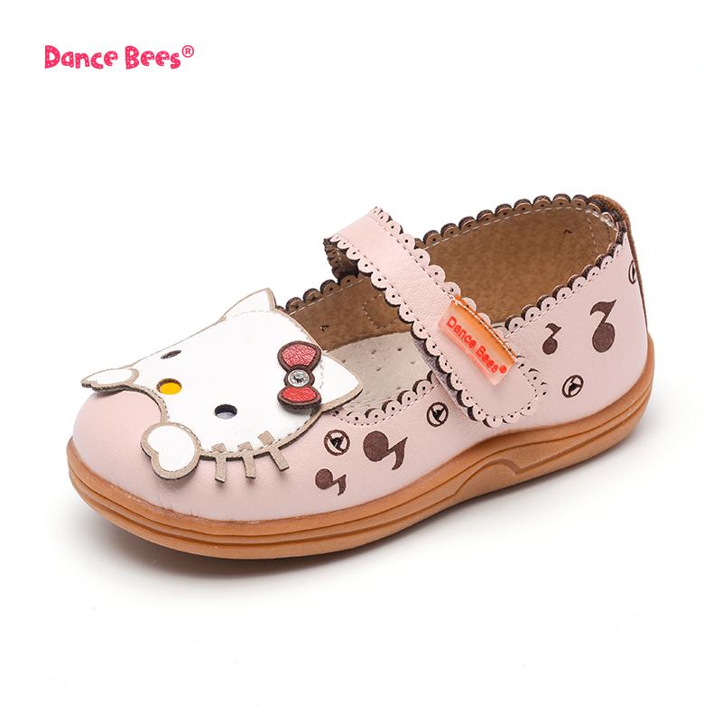 2017新款女童公主萌猫单鞋儿童鞋皮鞋小童鞋镂空软底卡通鞋