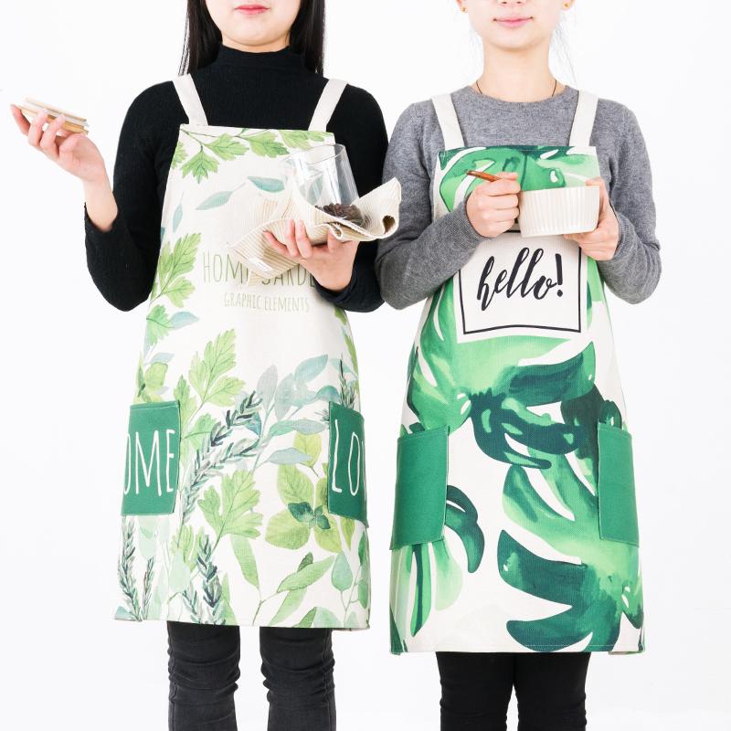 天天特价北欧简约情侣围裙韩版时尚厨房工作服防油围腰反穿衣3元优惠券