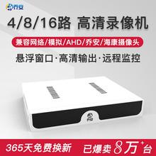 16路监控主机 乔安8路硬盘录像机DVR模拟高清NVR数字网络AHD混合4