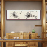Chinese painting flower and bird painting living room bedroom painting Chinese decorative hand-painted banner calligraphy and painting with frame lotus freehand ink painting