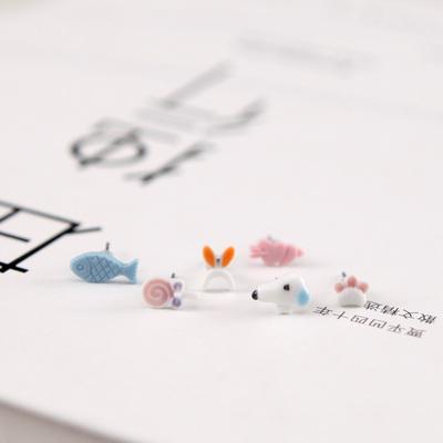 青歌景德镇手工原创可爱萌兔和胡萝卜耳钉女耳饰防过敏 个性配饰