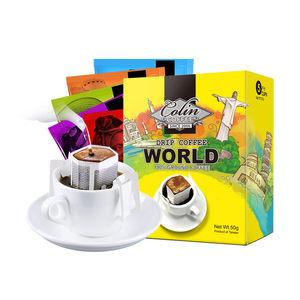 柯林咖啡咖啡粉挂耳咖啡现磨滤挂纯黑咖啡全系列5包装台湾进口