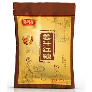 舒可曼姜汁红糖300g男生女生红糖姜茶老姜汤 冲饮调味