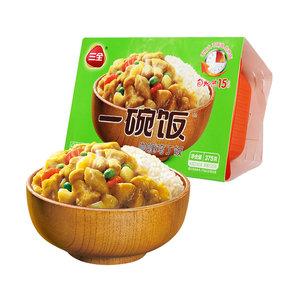三全自热米饭咖喱鸡丁一碗饭375g自热饭懒人快餐饭方便米饭速食品