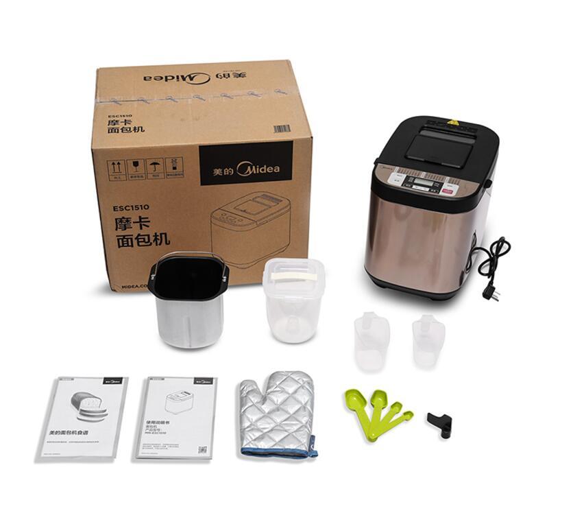 Midea/美的 ESC1510家用小型面包机智能多功能全自动和面发酵