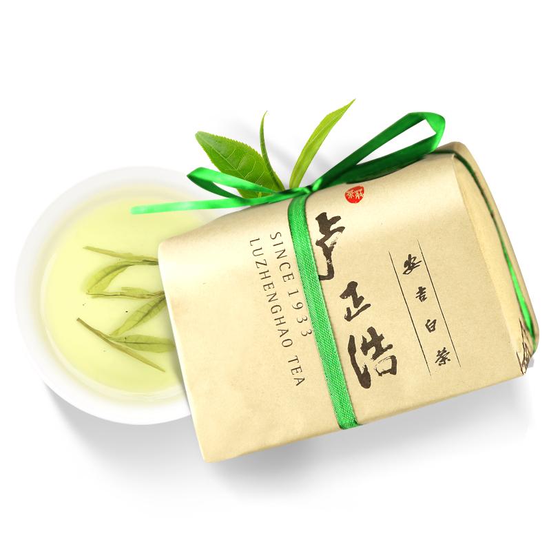 正宗原产 100g 卢正浩绿茶茶叶雨前安吉白茶春茶
