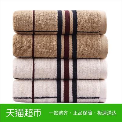 馨牌毛巾 英国格加厚纯棉面巾1条 强吸水洗脸毛巾