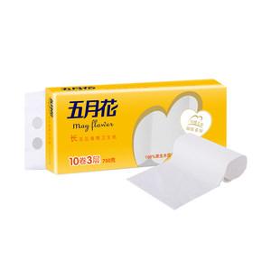 五月花妇婴之选3层*75g*10卷无芯卷纸厕纸卫生纸巾