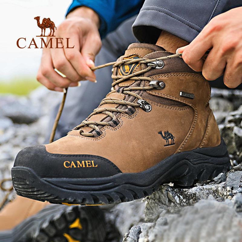 骆驼登山鞋男 防水防滑 秋冬季保暖徒步鞋女高帮户外鞋履运动靴子