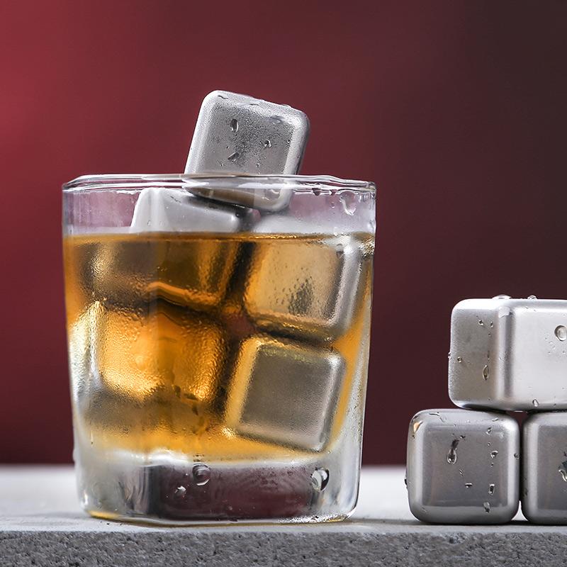304不锈钢冰块冰镇神冰夹金属冰固体冰块调酒器冰块威士忌冰酒石