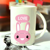 Blue Rui can remove wall stickers Rabbit cartoon notebook tile glass sticker snare computer sticker painting