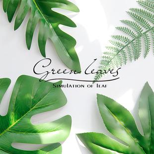 仿真树叶子拍照道具ins美甲美食摄影道具背景摆拍装 饰拍摄道具