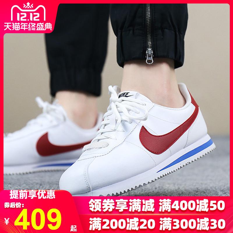 Nike耐克女鞋2019秋新款复古元年阿甘红白蓝运动鞋休闲板鞋904764