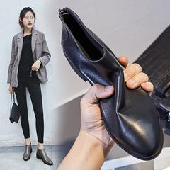 女士马丁中跟靴