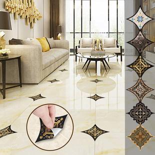 瓷砖贴纸对角贴地板地砖贴防水耐磨地贴客厅地面装饰墙贴自粘贴画
