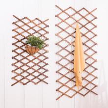 碳化防腐伸缩木拉网围栏网格花架防腐木篱笆攀爬架碳化木栅栏装饰