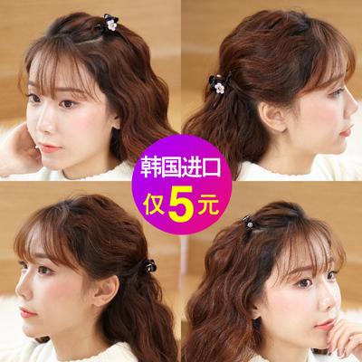 韩国迷你刘海夹发夹子发卡抓夹小号发抓樱花发饰顶夹发前头饰品女