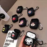 Apple Wireless Bluetooth Headset Cover Cartoon Silicone Headphones Shatter-resistant Set Creative Airpods Headphones