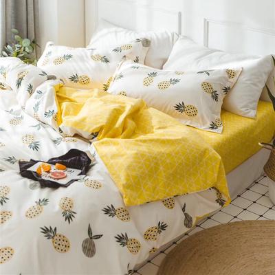 ins北欧小清新四件套卡通全棉纯棉斜纹学生宿舍床单单人儿童床品排行