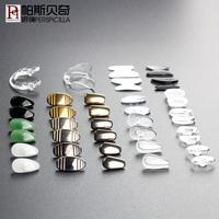 帕斯贝奇 硅胶眼镜鼻托鼻垫 翡翠纯钛陶瓷鼻托卡扣插入式眼镜配件