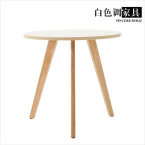 小圆桌茶几实木圆形简易简约边桌客厅原木日式沙发小角几北欧边几