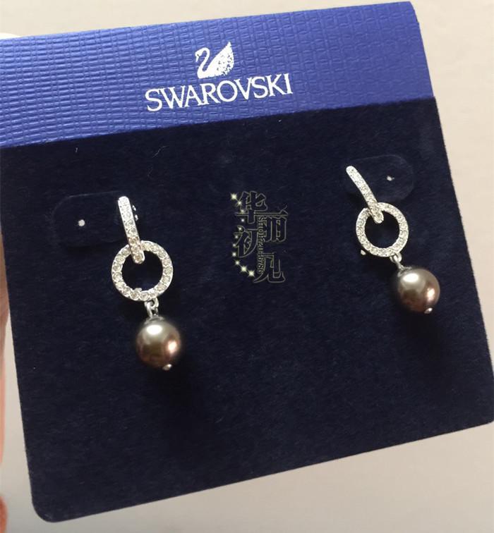 国内现货 施华洛世奇专柜正品 耳钉 扣环珍珠水晶耳环 5101330