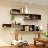 墙上置物架客厅电视背景墙装饰架墙壁柜卧室墙面隔板壁挂创意格子
